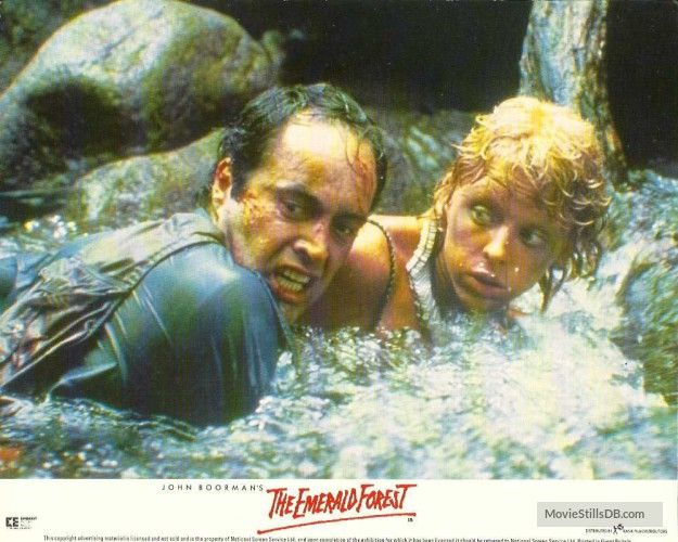 The Emerald Forest - Lobby card with Charley Boorman & Powers Boothe