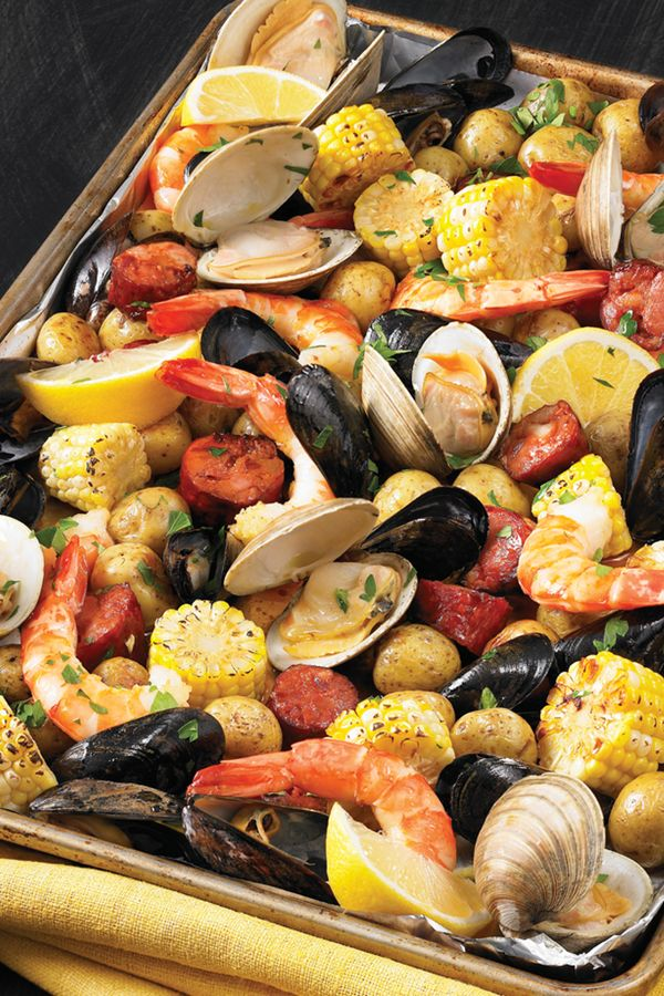Seafood Dinner Party Menu Ideas Part - 21: 20 Mess-Free Meals You Can Make In A Sheet Pan. Seafood DinnerSeafood Bake Seafood Boil Party IdeasShrimp ...