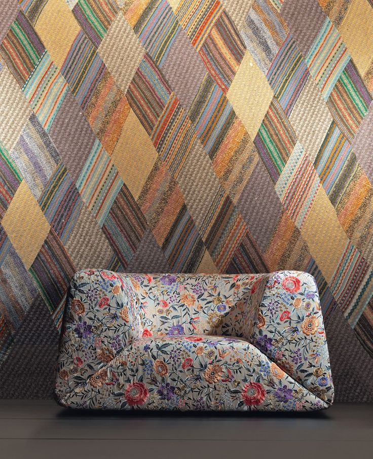 Missoni Home Chair Virgola: Seating. Mini Gravita Armchair In Oriental Garden Fabric