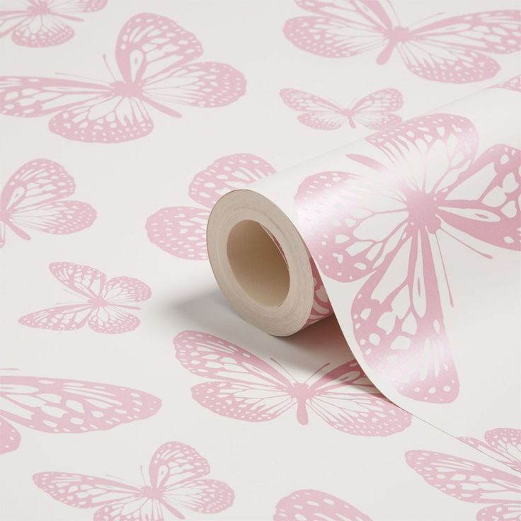 Butterfly White and Pink Wallpaper 10m  Use this fabulous Butterfly Wallpaper to create a butterfly theme in any room. Made from high quality paper, the design features lots of pretty pink butterflies on a white background that is infused with a subtle shimmer. Easy to apply, this wall paper will look great when used to decorate a whole room or when used to create a feature wall. High quality butterfly themed wallpaper Features a subtle shimmer 10 metres (32.8 feet) long, 52.5cm (20.75 in)…