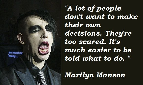marilyn manson quotes - Google Search
