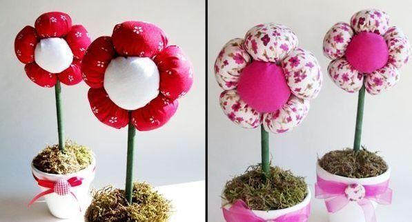 Aprenda a seguir como fazer centro de mesa com flores de tecido passo a passo, para decorar mesas de