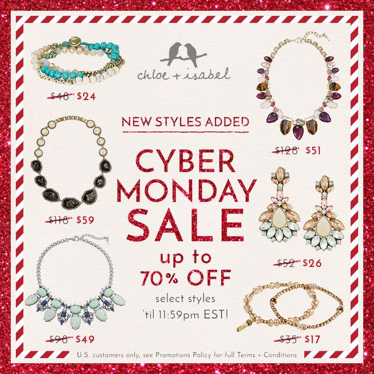 We're sweetening our Cyber Monday SALE with more up to 70% OFF styles – hurry now to my #chloeandisabel boutique!