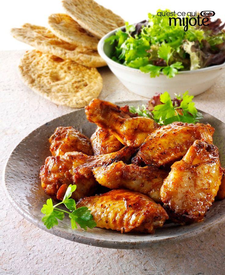 Ailes de poulet épicées grillées #recette
