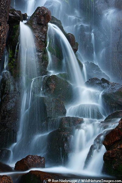 Timberline Falls, Rocky Mountain National Park (on the hike to Sky Pond), Colorado; photo by Ron Niebrugge