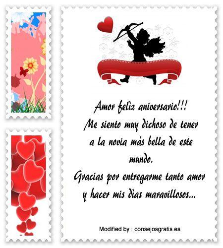 saludos de aniversario,sms bonitos de aniversario: http://www.consejosgratis.es/frases-de-aniversario-de-novios-por-sms/