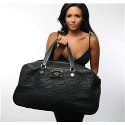 Versace Black Leather Couture Big Bag - Longfellow Auctions  Versace Duffle Bag