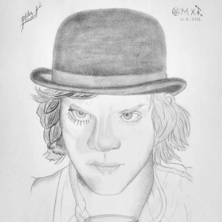 Alex. Orange clockwork Dibujo a lápiz  Drawing