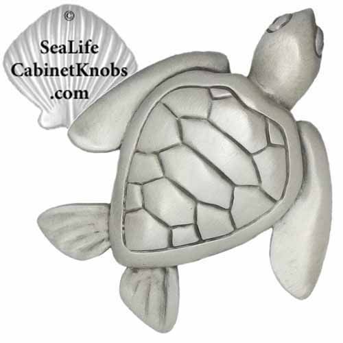 BEACH STYLE Cabinet Knobs   Artist Designed Coastal Cabinet Knobs, Pulls  And Handles, Cast In Pewter. Available In Decorator Finishes And Colors.