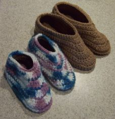 Free Crochet Slipper Patterns | into knitting slippers , here is the perfect crochet slippers pattern ...