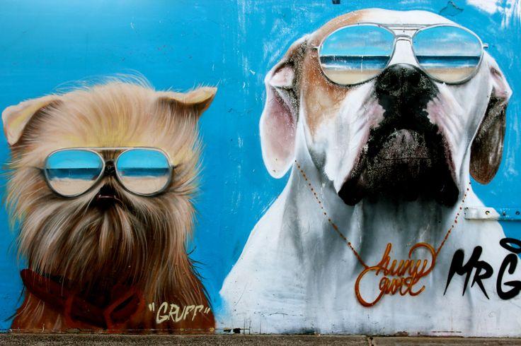 Street art, Bondi Beach, Sydney Australia