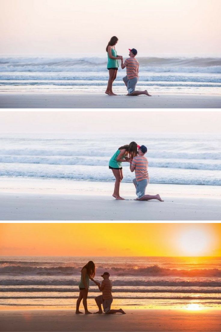 He proposed before the most incredible sunset over the beach, and the full proposal story has us swooning. <3