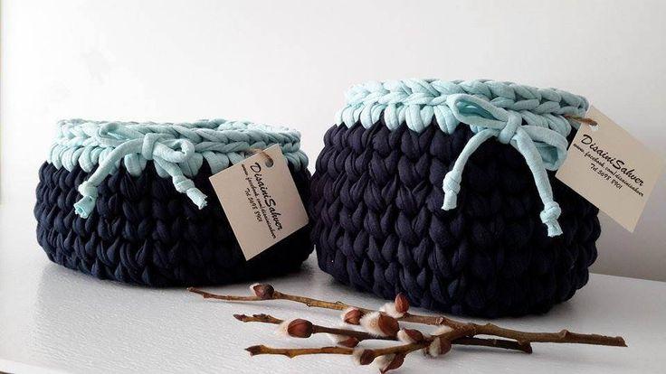 Two Crochet Baskets by DSahver on Etsy
