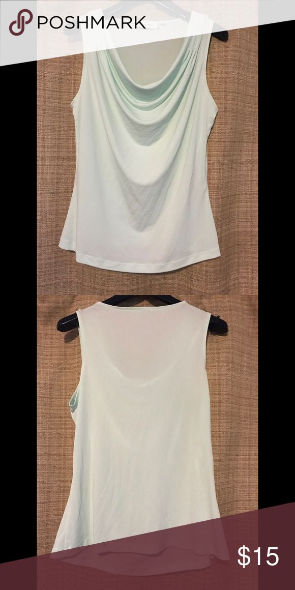 Calvin Klein Sleeveless Cowl-Neck Top Mint green Calvin Klein sleeveless cowl-neck top.  95% polyester, 5% spandex.  Would look nice under a blazer in an office setting💋💜 Calvin Klein Tops Blouses