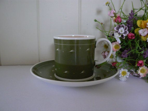 Susie Cooper vintage green coffee cup/can by MaddyVintageHostess, £15.00