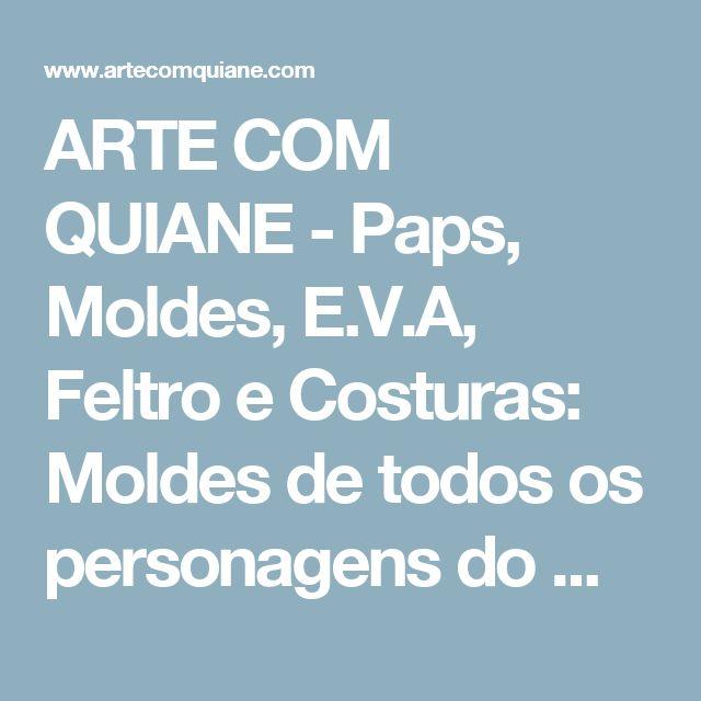 ARTE COM QUIANE -  Paps, Moldes, E.V.A, Feltro e Costuras: Moldes de todos os personagens do Minecraft - 42 moldes