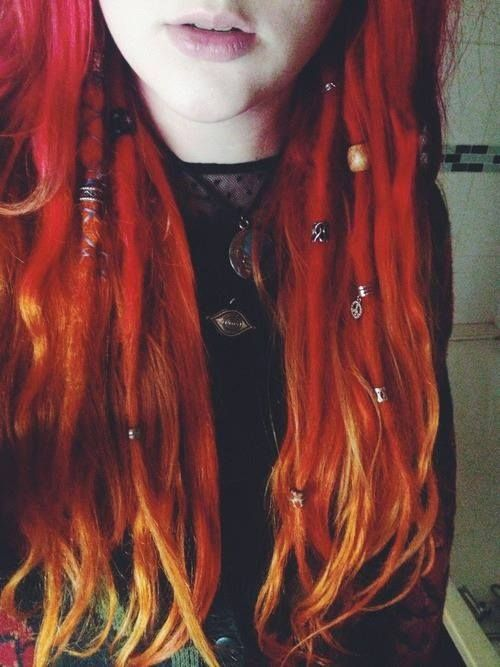 beautiful red dreads