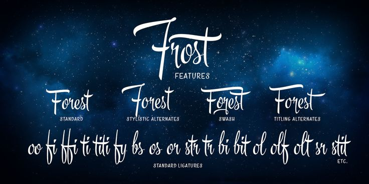 Frost typeface - promotional poster