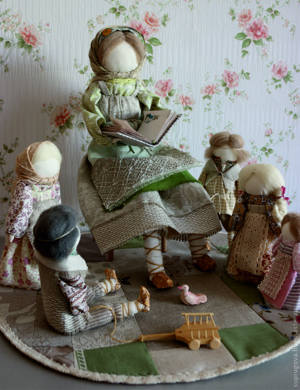 """""""Нянюшка"""" кукла образ. - салатовый,кукла ручной работы,дети,детское,детский сад"""