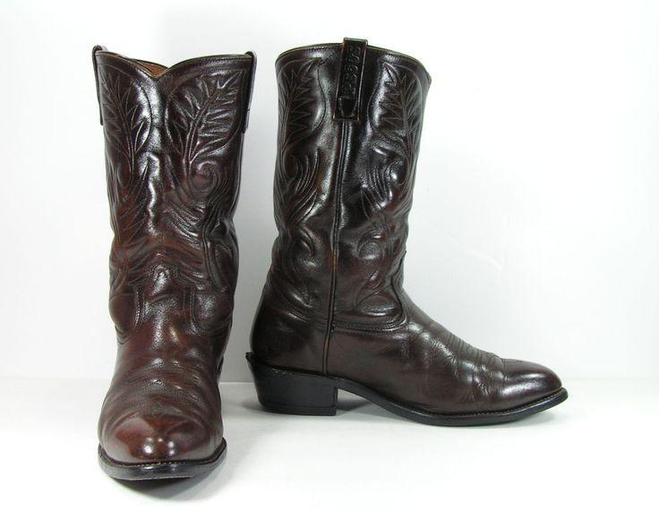 red wing pecos cowboy boots mens 11 EE wide brown leather western work biker #RedWing #CowboyWestern