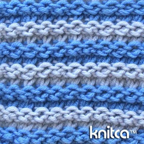 Right side of knitting stitch pattern – Knit & Purl 7 : www.knitca.com