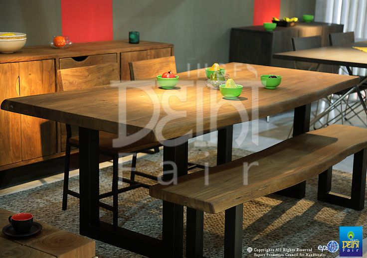 Solid wood tuned for modern spaces... source these and more at The IHGF Delhi Fair, Autumn 2015 #home #lifestyle #fashion #homedecor #furniture #tradeshow