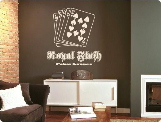 wandtattoo royal flush poker lounge - Wandtatoos Fur Kuche