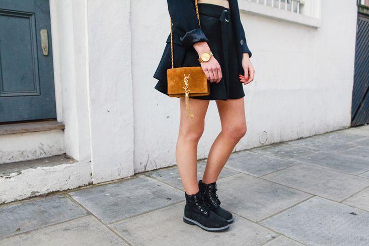 blazer:Alexander Wang *skirt:Zara *bag:Saint Laurent Cassandre *boots:Timberland x Office