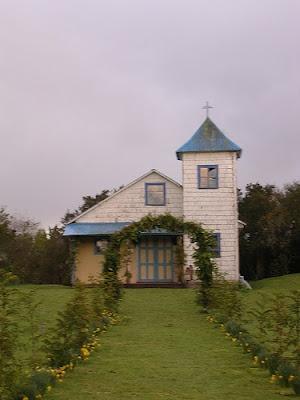 CHILE (Región De Los Lagos, Chiloé, Isla Aucar): Iglesia de Aucar.