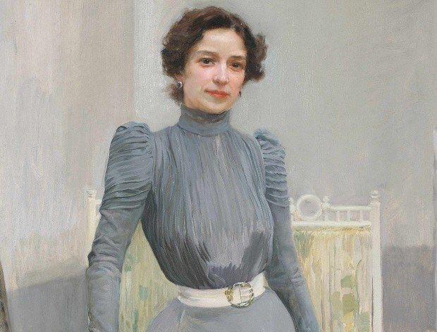 Joaquín Sorolla - Clotilde à la robe grise (détail), 1900 - Sorolla, un peintre espagnol à Paris - Musée des impressionnismes, Giverny - Jusqu'au 06/11/16