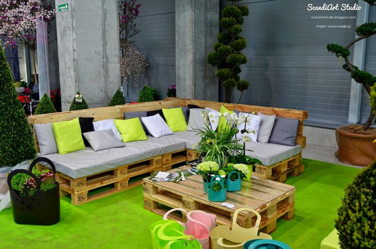 ScandiArt Studio: Meble z palet w domu i ogrodzie