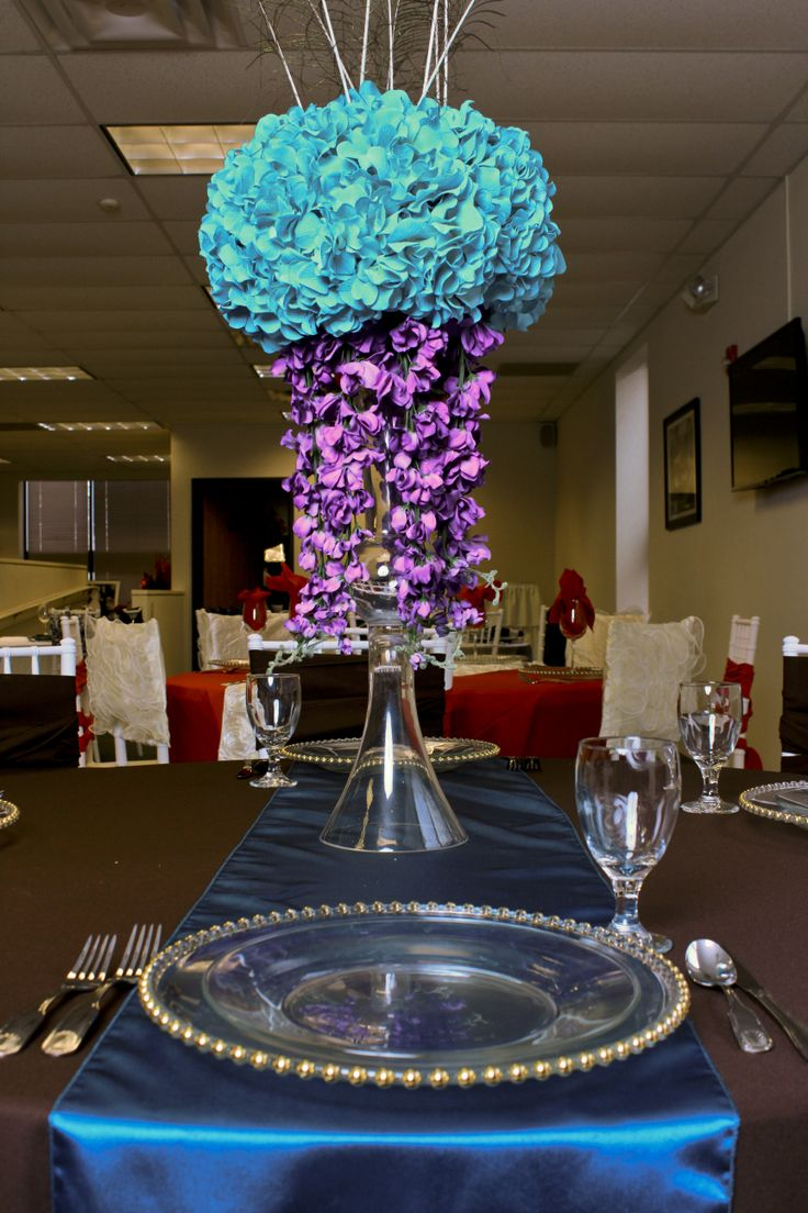 D Amp K Wedding Rentals Tablescape Turquoise Brown And