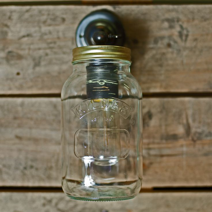 Kilner Jar Wall Lights : 1000+ images about The Orchard: Industrial Lighting: Shabby Chic Vintage on Pinterest ...
