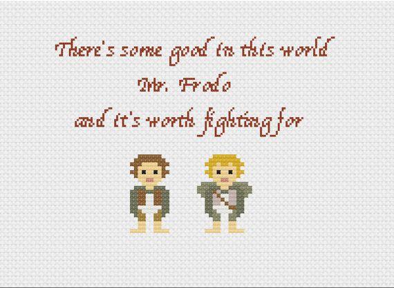 Frodo And Sam cross-stitch (pdf pattern)
