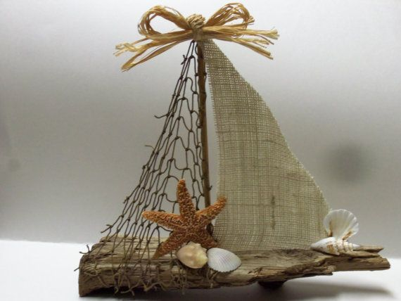 drift wood sailboat | Driftwood Sailboat Large via Etsy.