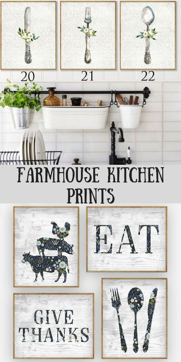 beautiful farmhouse kitchen prints great to add to your farmhouse kitchen decor ad farmhou on kitchen decor paintings prints id=31790