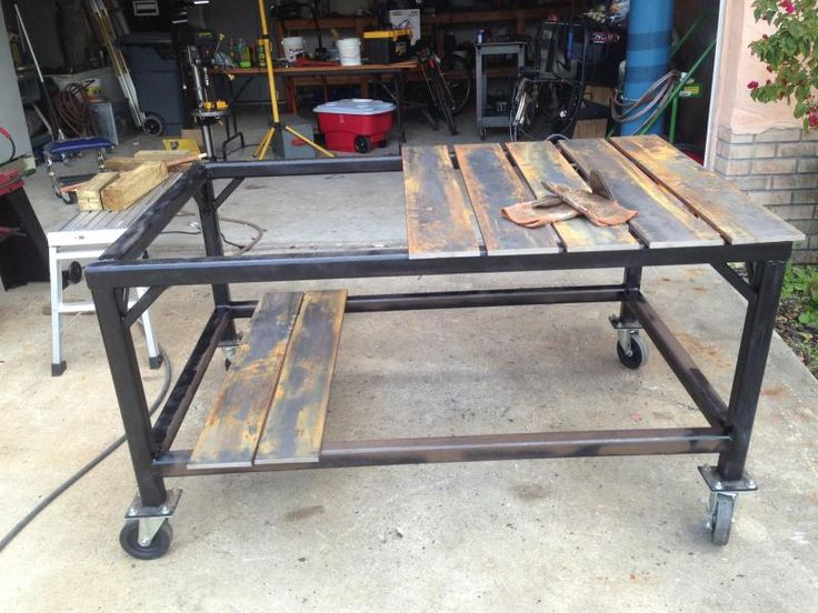 Welding Table Designs if you cant have a welding table of 6 inch thick cast iron Welding Table Build Powerstrokearmy Name Img_0096jpg Views 20091 Size 837 Kb