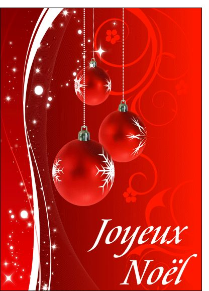 carte joyeux noel boule rouge pour envoyer par la poste sur merci facteur no l no l. Black Bedroom Furniture Sets. Home Design Ideas