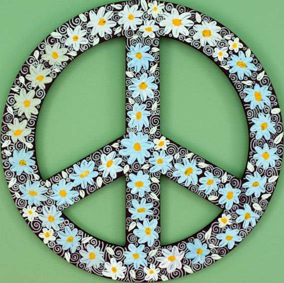 Daisy Peace Sign by QiQiGallery