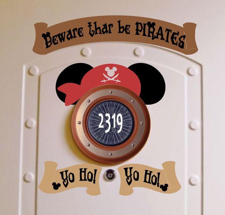 Decorating Ideas > Pirate Night Disney Cruise Stateroom Door Magnets  Yo Ho  ~ 015650_Halloween Door Magnets