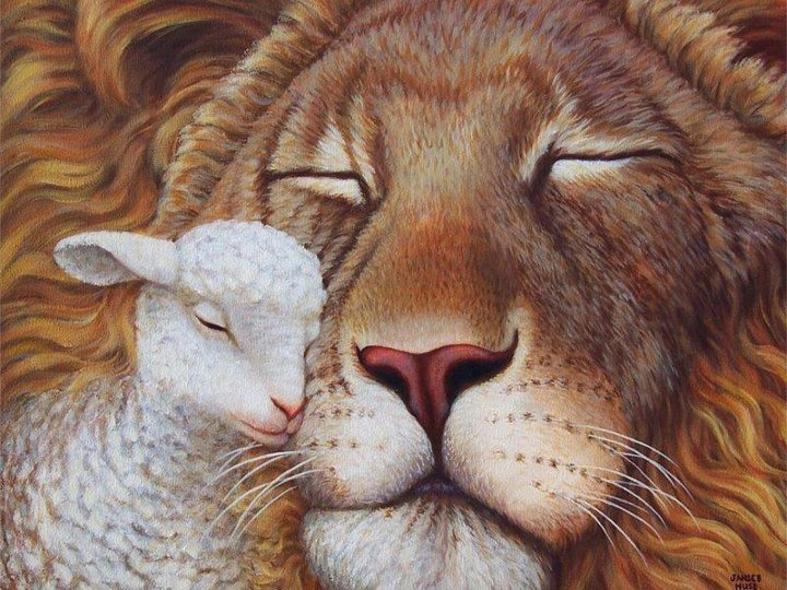 One of my favorite...The Lion and the Lamb!