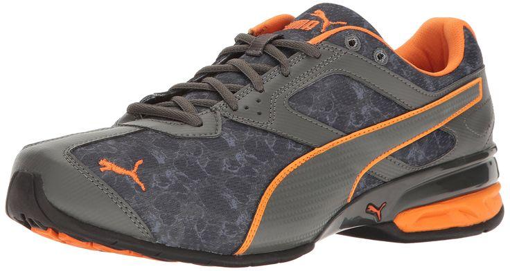PUMA Men's Tazon 6 Liquid Cross-Trainer Shoe, Quiet Shade-Dark Shadow-Vibrant Orange, 14 M US