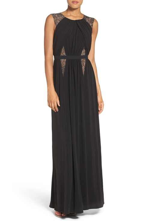 $338 - Nordstrom, BCBGMAXAZRIA 'Stehla' Lace Inset Jersey Gown