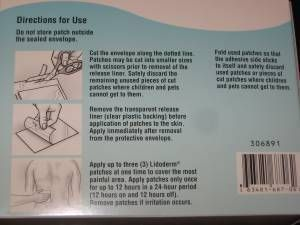 Lidocaine Patch Back Pain Lidoderm patch box with 5% lidocaine for back pain 30 patches - Other