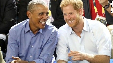Former President Barack Obama, accompanied by former Vice President Joe Biden and his wife, Jill, joined Prince Harry at the Invictus Games in Toronto.