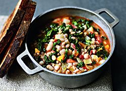 Keep the winter out and warmth in with this delicious hearty winter minestrone recipe by Stella McCartney.