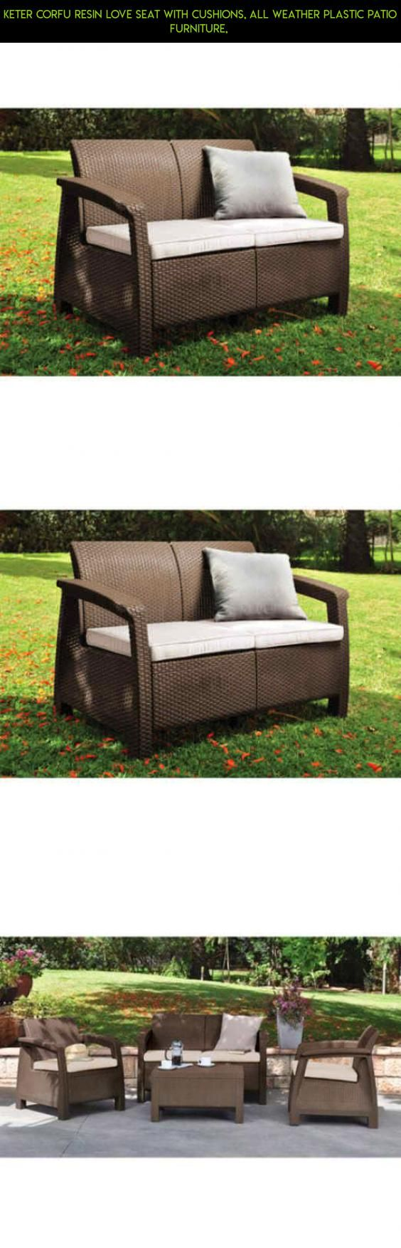 Keter Corfu Resin Love Seat with Cushions, All Weather Plastic Patio Furniture,  #products #keter #parts #corfu #drone #technology #tech #furniture #kit #racing #fpv #gadgets #patio #shopping #plans #camera