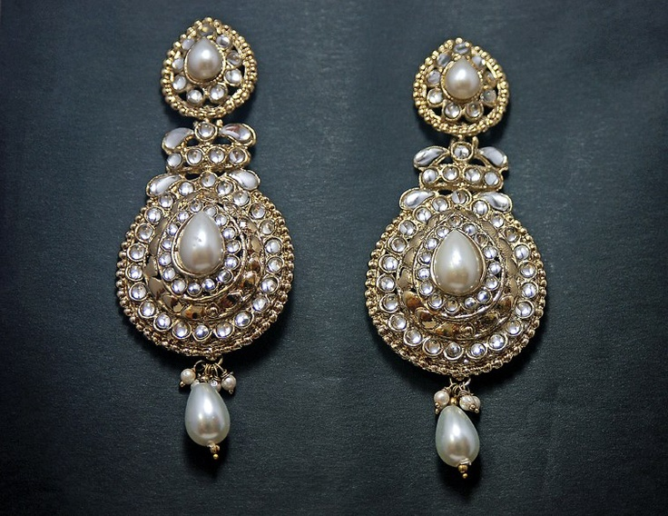 Handcrafted Kundan and Pearl Earrings is elegant and Beautiful