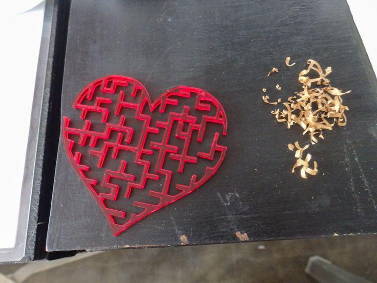 Heart Labirin with Laser Cutting