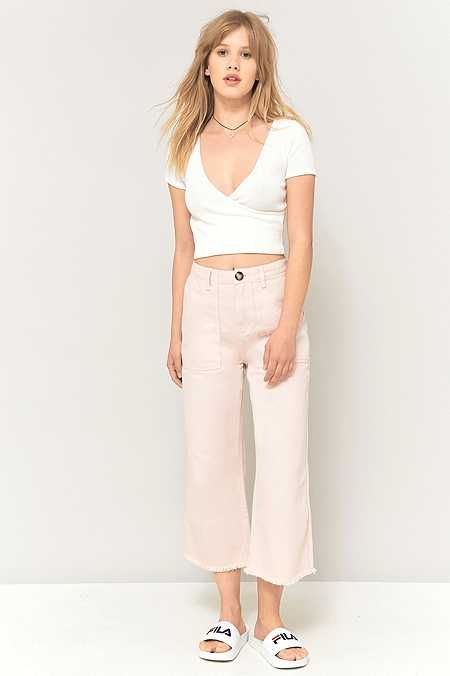 BDG - Jupe-culotte courte rose pâle